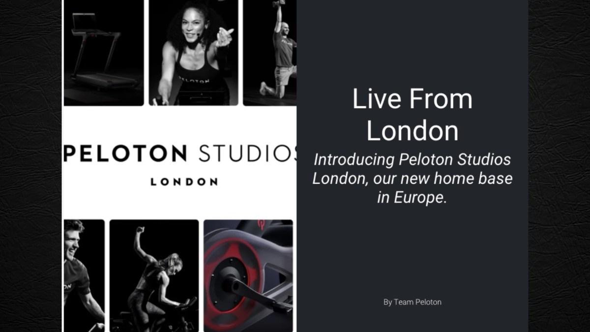 Peloton opening London studio