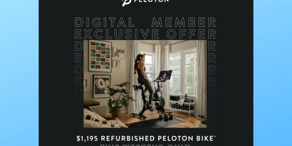 peloton refurbished bike sale